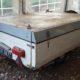 Donne caravane pliante toile années 70